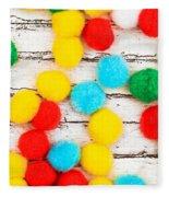 Colorful Bonbons Fleece Blanket
