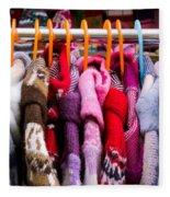 Colorful Coats Fleece Blanket