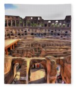 Colosseum In Rome Fleece Blanket