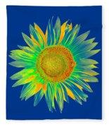 Colourful Sunflower Fleece Blanket