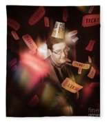 Comedy Entertainment Man On Theater Stage Fleece Blanket