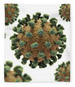 Common Cold Virus Fleece Blanket