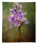 Spotted Orchid Fleece Blanket