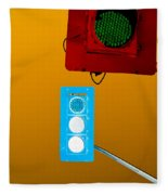 Confusing Wrong-color Traffic Lights And Copyspace Fleece Blanket