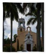 Congregational Church Of Coral Gables Fleece Blanket