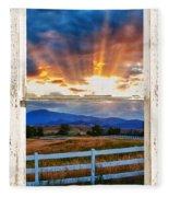 Country Beams Of Light Barn Picture Window Portrait View  Fleece Blanket
