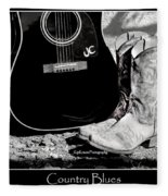Country Blues Fleece Blanket