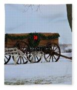 Country Christmas Fleece Blanket