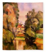 Country House By A River Fleece Blanket