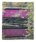 Covered Bridge Along The Wissahickon Creek Fleece Blanket