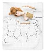 Cracked And Broken Fleece Blanket