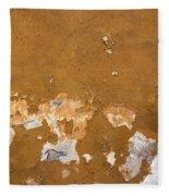 Cracked Stucco - Grunge Background Fleece Blanket