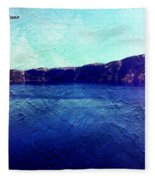 Crater Lake As A Painting Fleece Blanket