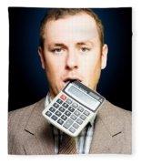 Credit Crunch Or Financial Struggle Fleece Blanket