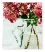 Crepe Myrtle In A Vase Fleece Blanket