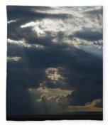Crepuscular Rays Fleece Blanket