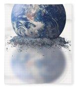 Crumbling Earth Fleece Blanket
