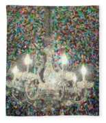 Crystal Chandelier Fleece Blanket