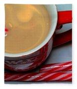 Cup Of Christmas Cheer - Candy Cane - Candy -  Irish Cream Liquor Fleece Blanket