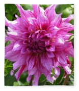 Dahlia Named Annette C Fleece Blanket