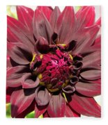 Dahlia Named Black Wizard Fleece Blanket