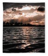 Dark Tranquility Fleece Blanket