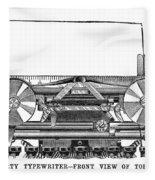 Daugherty Typewriter, 1895 Fleece Blanket