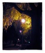 Davenport At Night Fleece Blanket