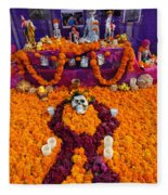 Day Of The Dead Altar, Mexico Fleece Blanket