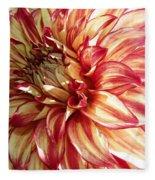Dazzling Dahlia  Fleece Blanket