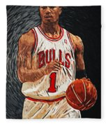 Derrick Rose Fleece Blanket