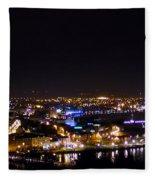 Derry At Night Fleece Blanket