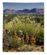 Desert Wildflowers Fleece Blanket