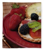 Dessert Tarts Fleece Blanket