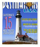 Destinations Usa Faux Magazine Cover Fleece Blanket