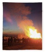 Diamond Jubilee Beacon On Epsom Downs Surrey Uk Fleece Blanket