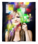Digital Future Of Business Communication Fleece Blanket