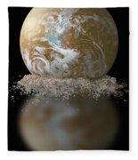 Dissolving Earth Fleece Blanket