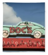 Doc's Bar And Grill Fleece Blanket