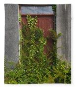 Door Of Old House Fleece Blanket