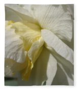 Double Daffodil Named White Lion Fleece Blanket