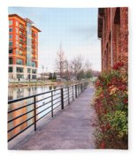 Downtown Greenville Sc Fleece Blanket