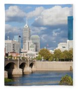 Downtown Indianapolis Indiana Fleece Blanket