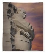 Dr. Martin Luther King Jr Memorial Fleece Blanket