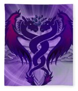 Dragon Duel Series 4 Fleece Blanket