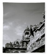Dramatic Borobudur Fleece Blanket