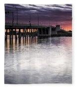 Drawbridge At Sunset Fleece Blanket