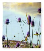 Dream Field Of Teasels Fleece Blanket