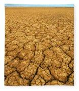 Dry Cracked Earth Fleece Blanket