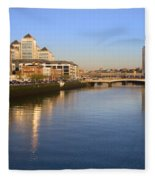 Dublin At Dawn Fleece Blanket